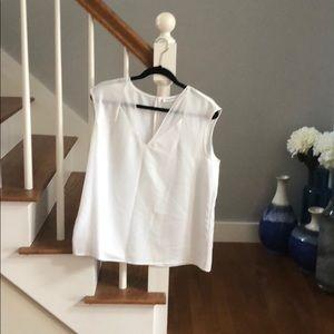EUC white Calvin Klein sleeveless top size L